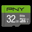 PNY ELITE MICRO SDHC 32GB + ADAPTER CLASS 10 UHS-I U1 (100 MB/s OLVASÁSI SEBESSÉG)