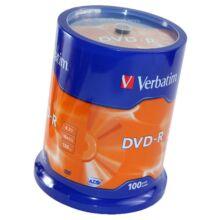 VERBATIM DVD-R 16X CAKE (100)