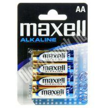 MAXELL AA MÉRETŰ ALKALINE ELEM (4 BLISTER)