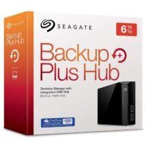 SEAGATE BACKUP PLUS HUB 3,5 COL USB 3.0 KÜLSŐ MEREVLEMEZ 6TB FEKETE