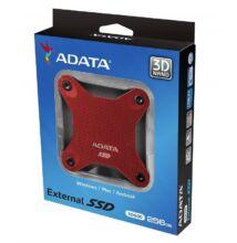 ADATA SD600 2,5 COL USB 3.1 KÜLSŐ SSD MEGHAJTÓ 256GB PIROS