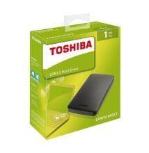 TOSHIBA CANVIO BASICS 2,5 COL USB 3.0 KÜLSŐ MEREVLEMEZ 1TB FEKETE