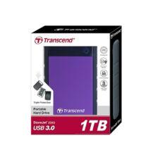 TRANSCEND STOREJET 25H3 2,5 COL USB 3.0 KÜLSŐ MEREVLEMEZ 1TB FEKETE/LILA