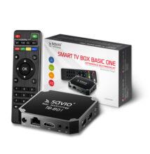 SAVIO TB-B01 BASIC ONE ANDROID 7.1 TV BOX 1GB RAM 8GB ROM 4K UHD MÉDIALEJÁTSZÓ