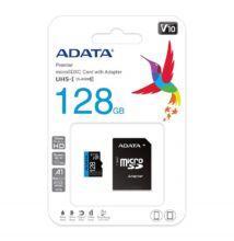 ADATA MICRO SDXC 128GB + ADAPTER CLASS 10 UHS-I U1 A1 V10 (100 MB/s OLVASÁSI SEBESSÉG)