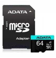 ADATA PREMIER PRO MICRO SDXC 64GB + ADAPTER CLASS 10 UHS-I U3 A1 V30 100/80 MB/s