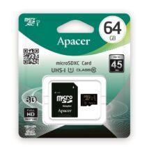 APACER MICRO SDXC 64GB + ADAPTER CLASS 10 UHS-I U1