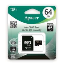 APACER MICRO SDXC 64GB + ADAPTER CLASS 10 UHS-I U1