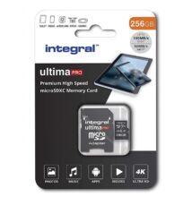 INTEGRAL ULTIMA PRO MICRO SDXC 256GB + ADAPTER CLASS 10 UHS-I U3 A1 V30 100/90 MB/s