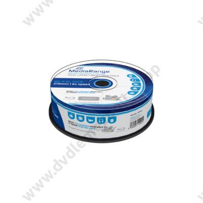 MEDIARANGE BD-R 50GB 6X NYOMTATHATÓ CAKE (25) MR510