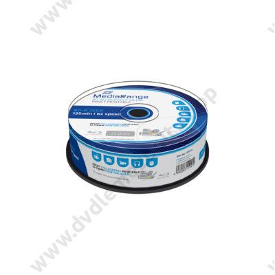 MEDIARANGE BD-R 25GB 6X NYOMTATHATÓ CAKE (25) MR515