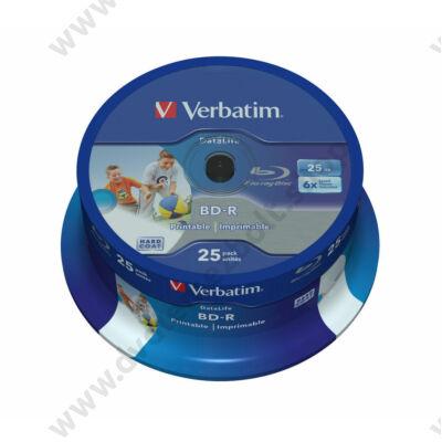 VERBATIM BD-R 25GB 6X DATALIFE NYOMTATHATÓ CAKE (25)