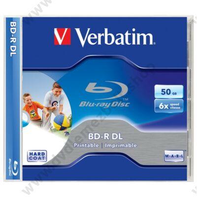 VERBATIM BD-R 50GB 6X NYOMTATHATÓ NORMÁL TOKBAN