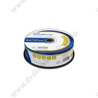 MEDIARANGE CD-R 48X 800MB 90MIN CAKE (25) MR221