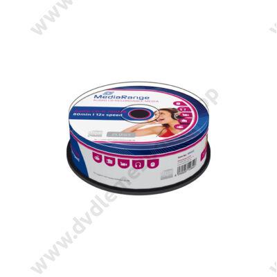 MEDIARANGE CD-R 12X AUDIO CAKE (25) MR223