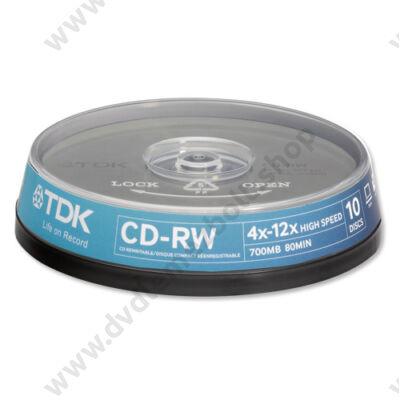 TDK CD-RW 12X CAKE (10)