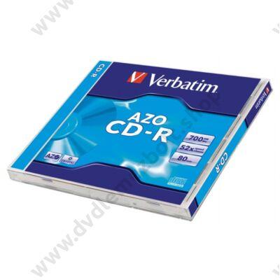 VERBATIM CD-R 52X CRYSTAL AZO NORMÁL TOKBAN