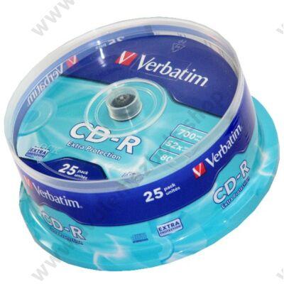 VERBATIM CD-R 52X CAKE (25)