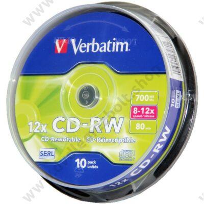 VERBATIM CD-RW 12X CAKE (10)