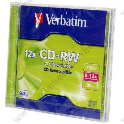 VERBATIM CD-RW 12X NORMÁL TOKBAN