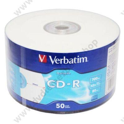 VERBATIM CD-R 52X NYOMTATHATÓ SHRINK (50)