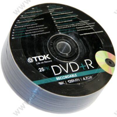 TDK DVD+R 16X SHRINK (25)