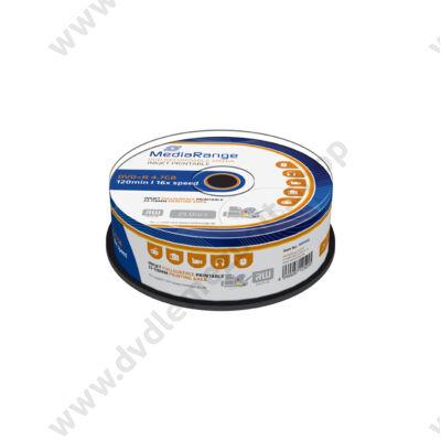 MEDIARANGE DVD+R 16X FULL NYOMTATHATÓ CAKE (25) MR408