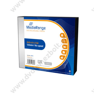 MEDIARANGE DVD+R 16X SLIM TOKBAN (5) MR419