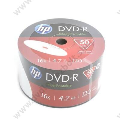 HP DVD-R 16X FULL NYOMTATHATÓ SHRINK (50)