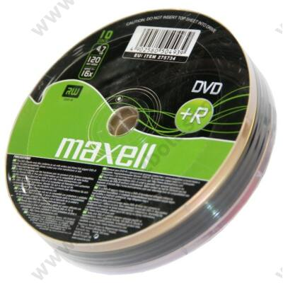 MAXELL DVD+R 16X SHRINK (10)