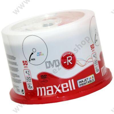 MAXELL DVD-R 16X FULL NYOMTATHATÓ CAKE (50)