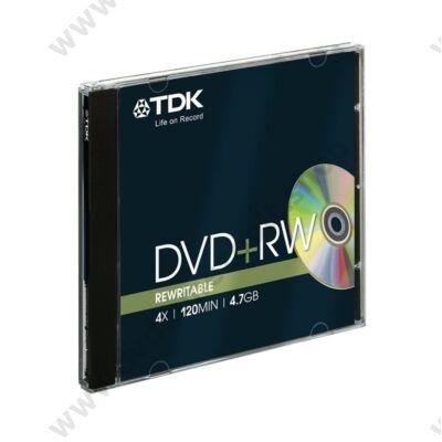 TDK DVD+RW 4X NORMÁL TOKBAN