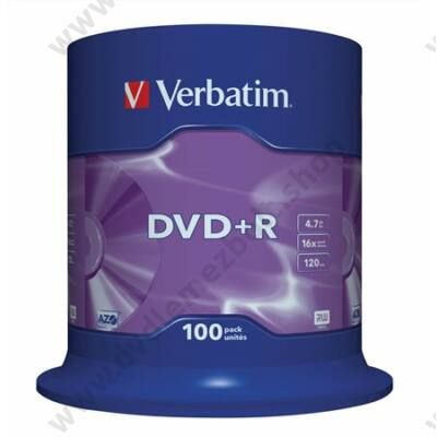VERBATIM DVD+R 16x CAKE (100)