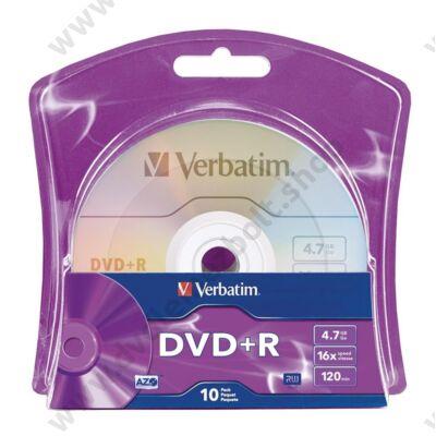 VERBATIM DVD+R 16X BLISTER (10)