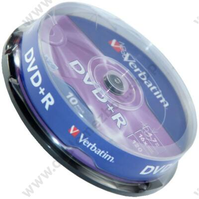VERBATIM DVD+R 16X CAKE (10)