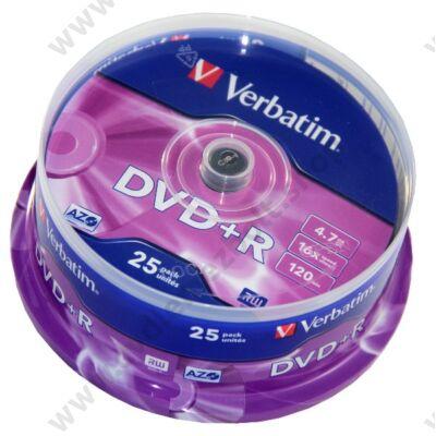 VERBATIM DVD+R 16X CAKE (25)
