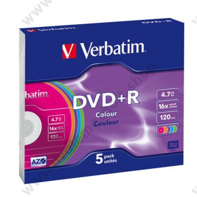 VERBATIM DVD+R 16X COLOUR SLIM TOKBAN (5)