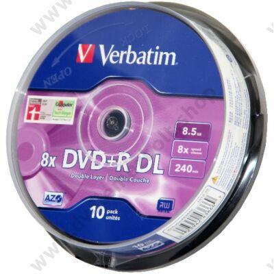 VERBATIM DVD+R 8X DL CAKE (10)