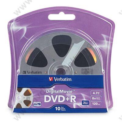 VERBATIM DVD+R 8X DIGITAL MOVIE BLISTER (10)