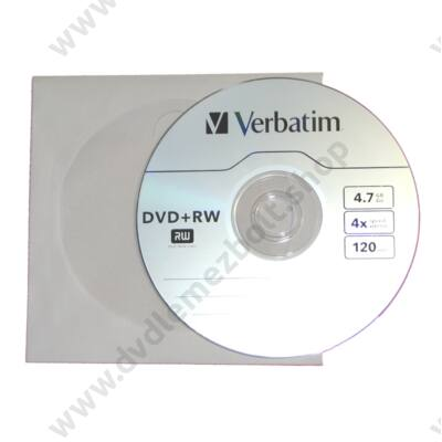 VERBATIM DVD+RW 4X PAPÍRTOKBAN (10)