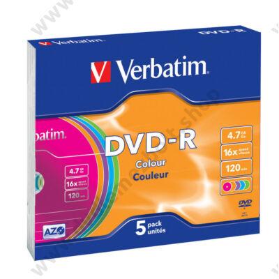 VERBATIM DVD-R 16X COLOUR SLIM TOKBAN (5)