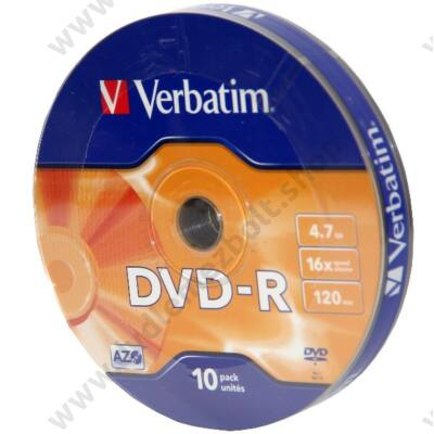 VERBATIM DVD-R 16X SHRINK (10)
