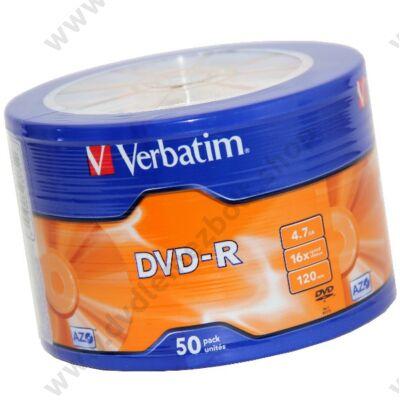 VERBATIM DVD-R 16X SHRINK (50)