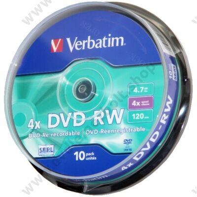 VERBATIM DVD-RW 4X CAKE (10)