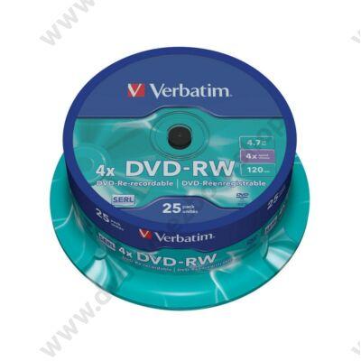 VERBATIM DVD-RW 4X CAKE (25)