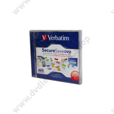 VERBATIM 4,5GB SECURESAVE DVD NORMÁL TOKBAN