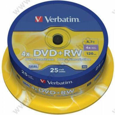 VERBATIM DVD+RW 4X CAKE (25)