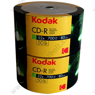 KODAK CD-R 52X SHRINK (50) - 2 X 50 DB-OS CSOMAG