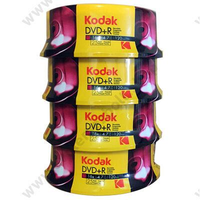 KODAK DVD+R 16X CAKE (25) - 4 X 25 DB-OS CSOMAG