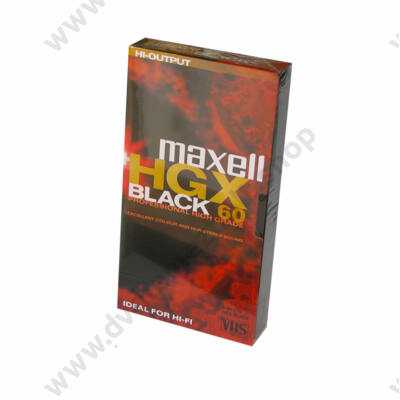 MAXELL VHS KAZETTA HGX BLACK 60 MIN